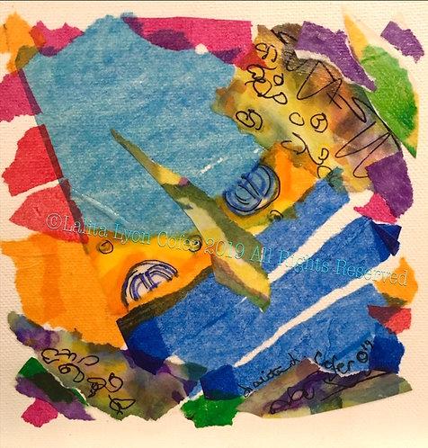 ISLAND GREEN MAN original canvas by Lalita Lyon Cofer