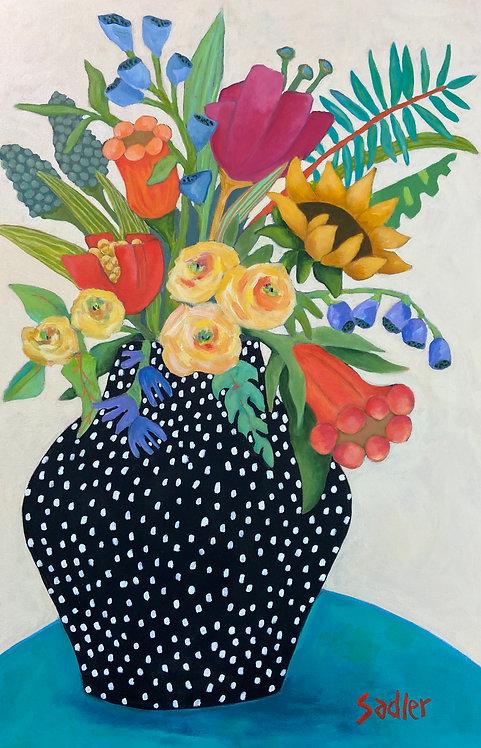 JUNE BLOOM original on canvas by Susan Sadler