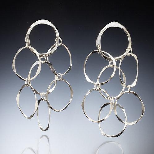 Sterling Silver Chandelier Earrings handmade by Kathleen Dennison