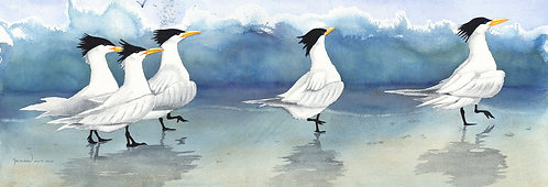 """Follow the Leader"", Watercolor Giclée Reproduction by Christine Reichow"