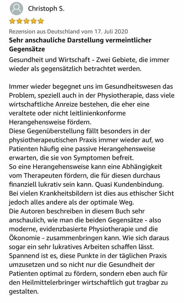 Die Ökonomie der evidenzbasierten Physiotherapie