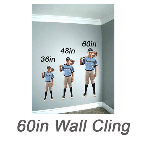 60in Wall Cling