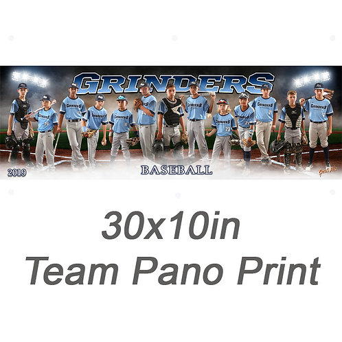 30x10in Team Pano Print