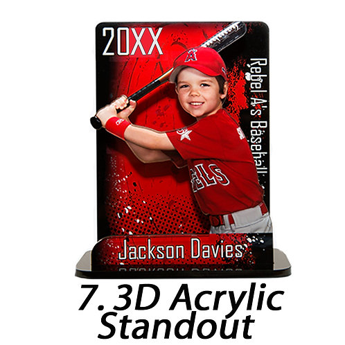7. 3D Acrylic Standout