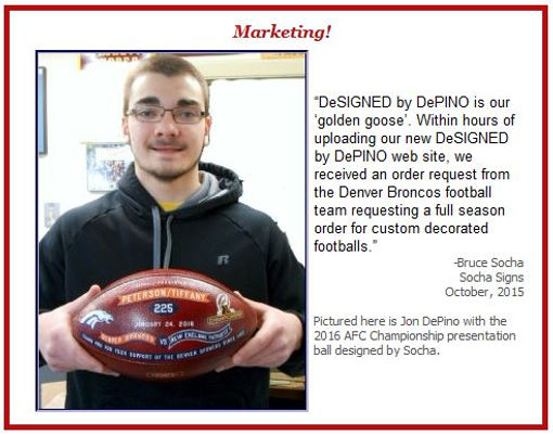 DePino with Socha 2016 AFC football
