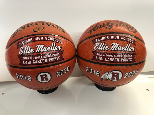 hand painted basketballs