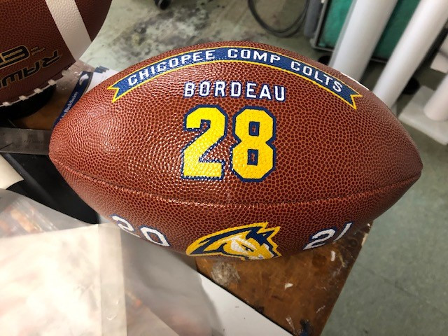 hand painted footballs