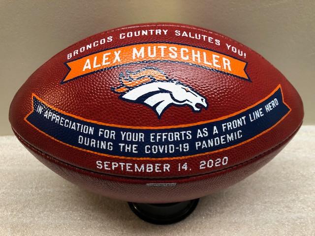 decorated footballs