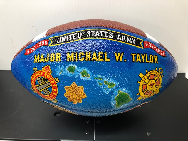 hand painted football