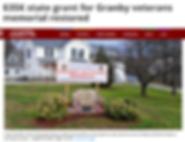 $35K state grant for Granby veterans memorial restored