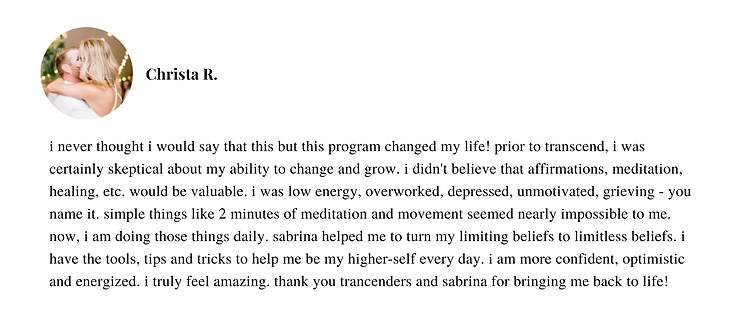 This program is so much more than I knew I needed. I thought I was joining this program to