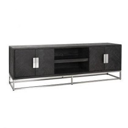 TV dressoir 185 Blackbone Silver