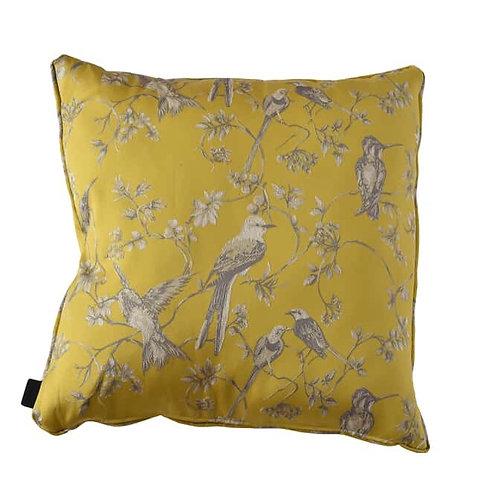 Cushion Birds Yellow 60x60