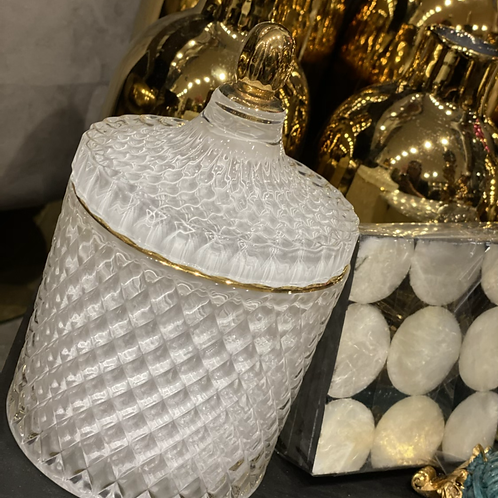 Jar white/gold