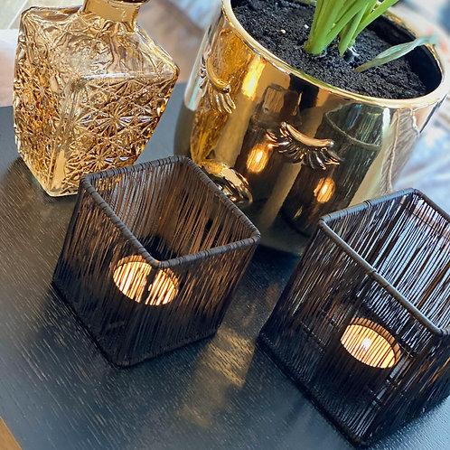 Candle holder set black