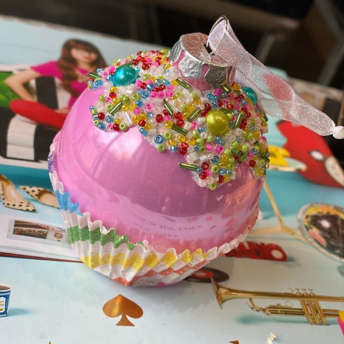 Cupcake glas roze