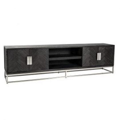 TV dressoir 220 Blackbone Silver
