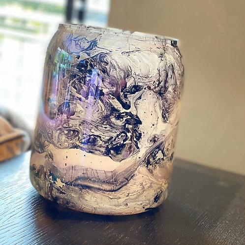 Rainbow Marble Vase