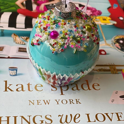 Cupcake glas blauw
