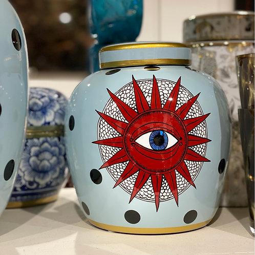 Jar blue dots eye 22h