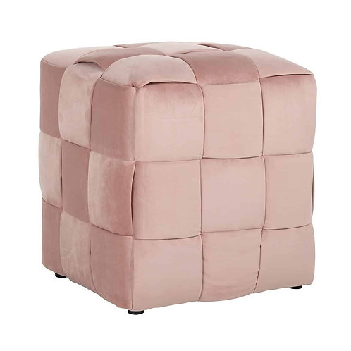 Woven cube quartz pink