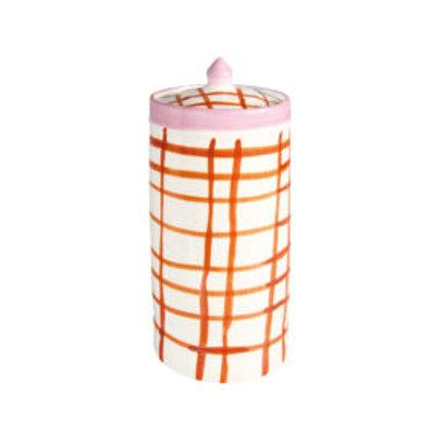 Jar orange checkprint