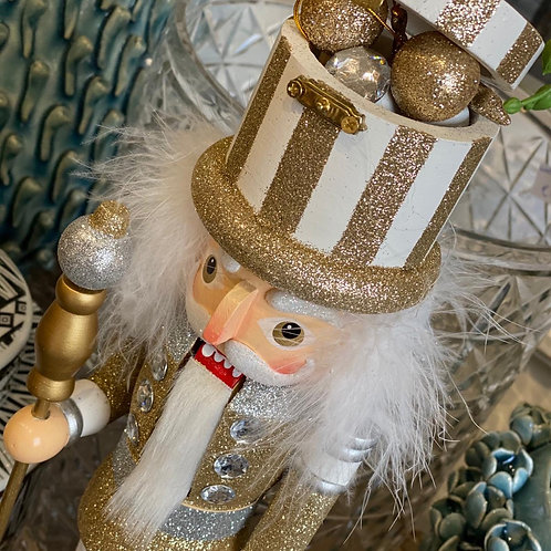 Nutcracker silver/gold giftbox