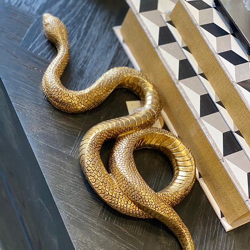 Slang deco object gold