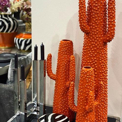 Cactus orange deco vase