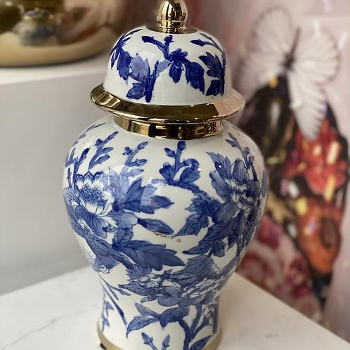 Jar blue/white kelly