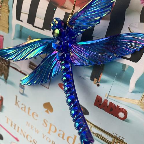 Libelle blauw metal