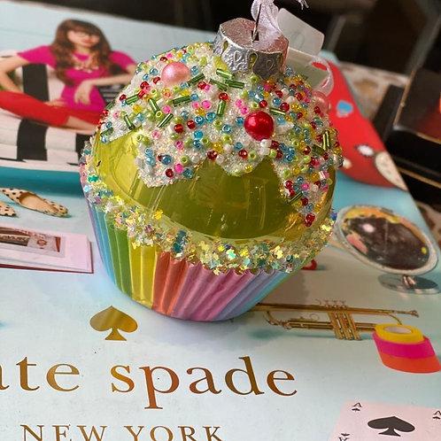 Cupcake glas groen