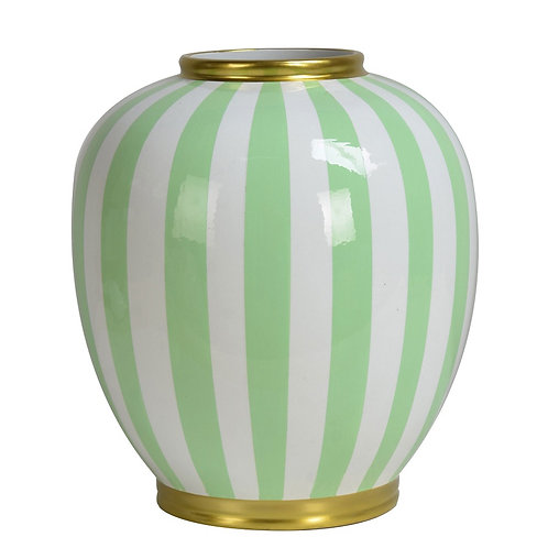 Vase Mint Striped