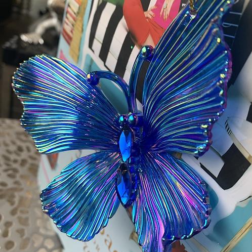 Vlinder blauw metal