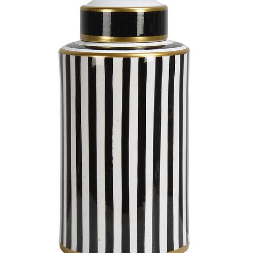 Jar striped black/white high