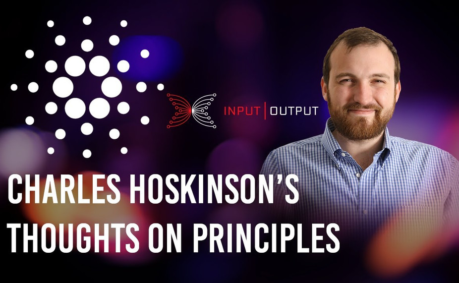 Charle's Hoskinson's Thoughts on Principles