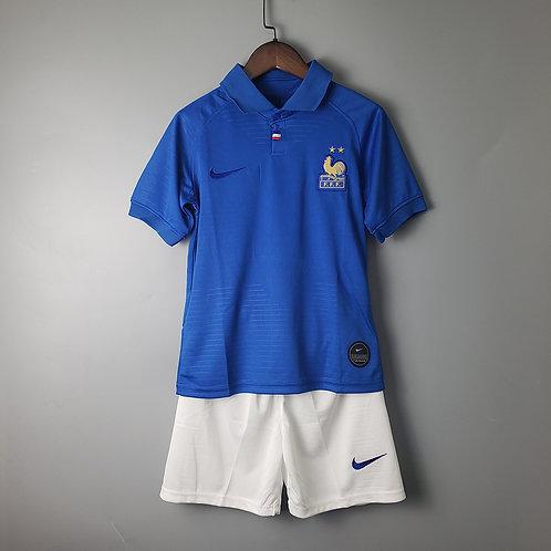 Kit França 100 anos 2020 - Infantil Nike