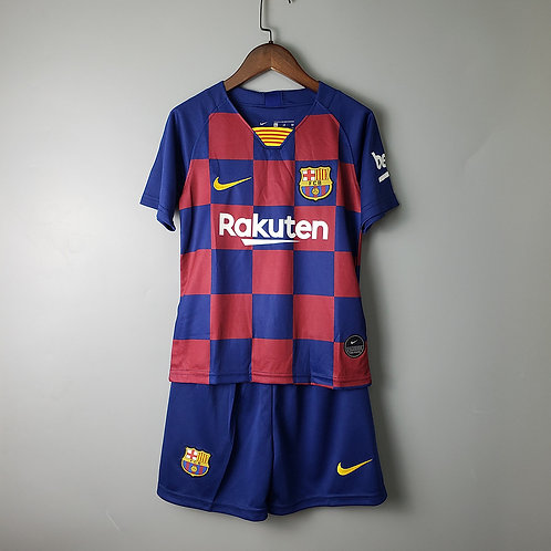 Kit Barcelona Home 2020 - Infantil Nike