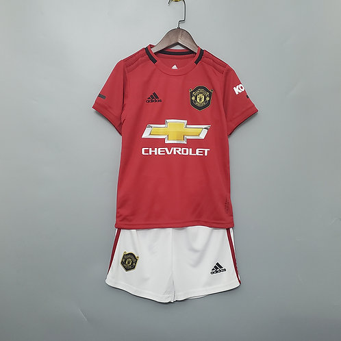 Kit Manchester United Home 2020 - Infantil Adidas