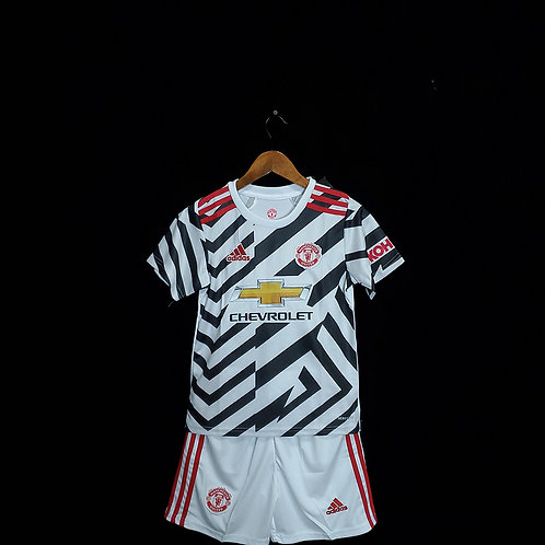 Conjunto Infantil Manchester United III 20/21 - Adidas
