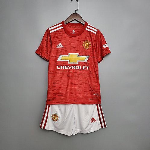 Conjunto Infantil Manchester United I 20/21 - Adidas