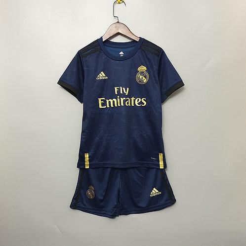 Kit Real Madrid Away 2020 - Infantil Adidas