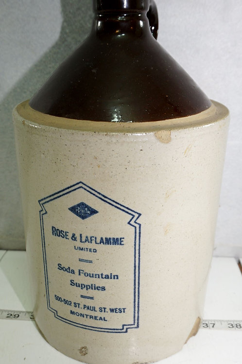 Rose And Laflamme Soda Fountain Supplies Stoneware Advertisi
