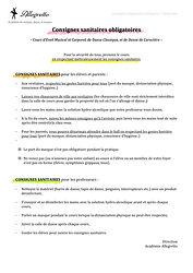 Consignes sanitaires obligatoires Eveil