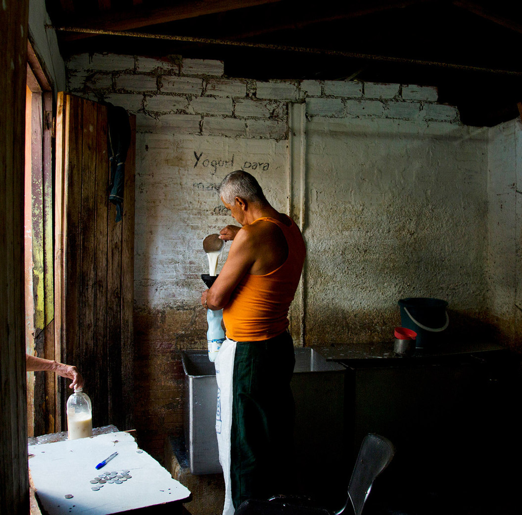 Milk Rations. Cuba