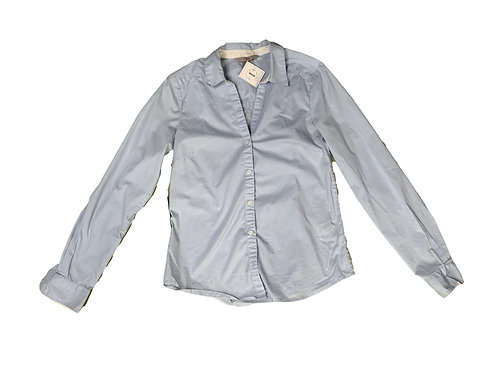 H&M blue and white pinstriped button down long sleeve