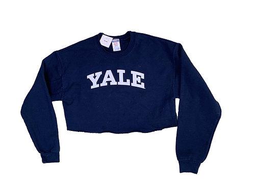 Jerzees Yale navy crop sweater