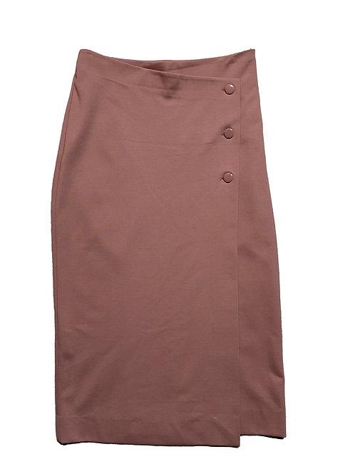 Babaton blush button skirt