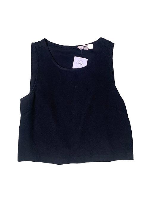 Jack by BB Dakota black crop sleeveless top