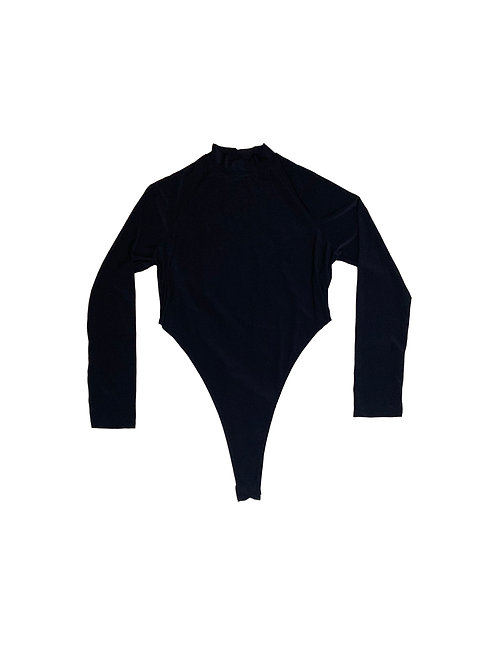 Fashiona Nova black mock neck long sleeve bodysuit